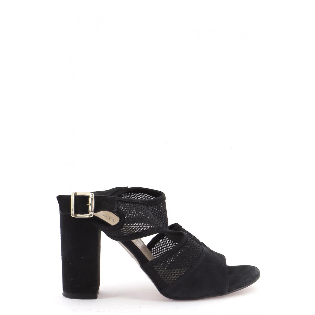 Autre Marque \N Black Leather Heels for Women 36 EU