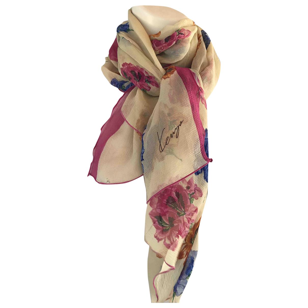 Kenzo \N Beige Silk scarf for Women \N