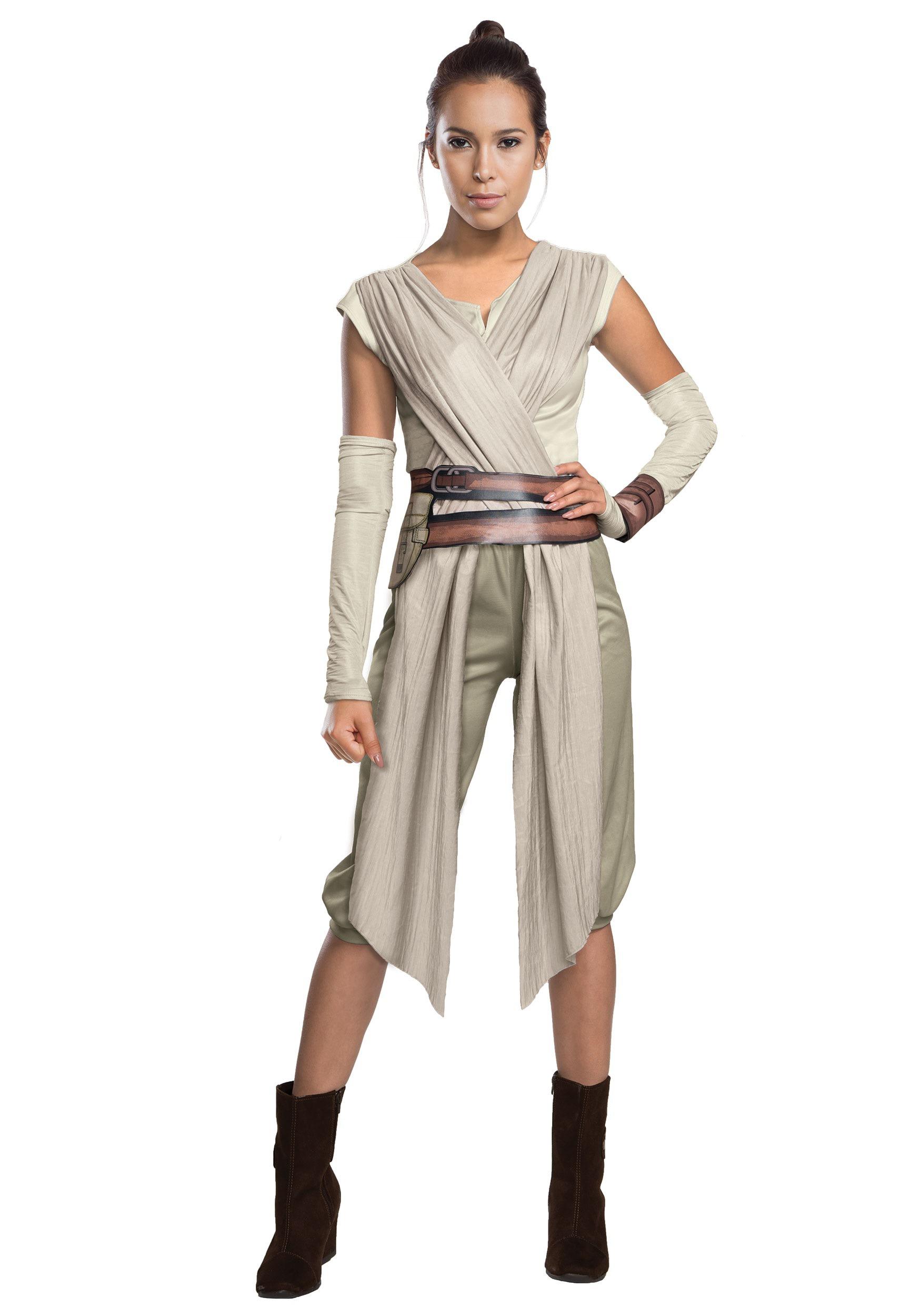 Deluxe Star Wars The Force Awakens Rey Costume for Women
