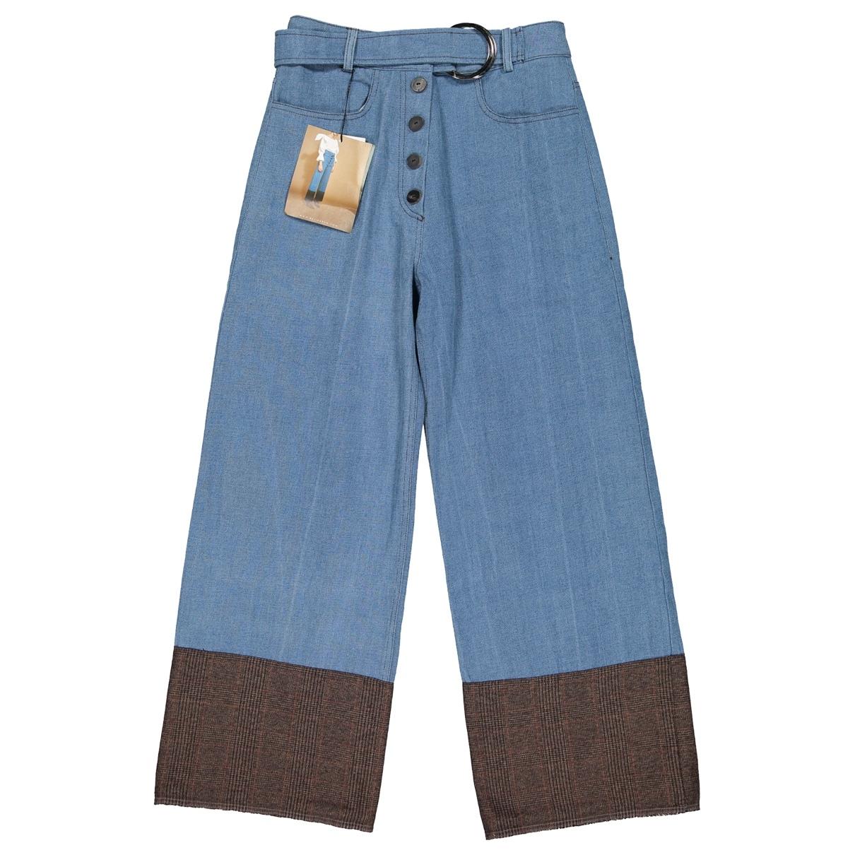 Rejina Pyo X Vestiaire Collective \N Blue Denim - Jeans Jeans for Women 30 US