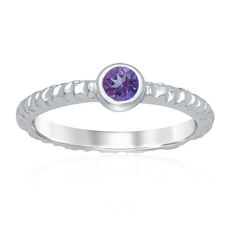 Marvel Universe Fine Jewelry By Marvel Womens Genuine Purple Topaz Sterling Silver Round Marvel Cocktail Ring, 7 , No Color Family