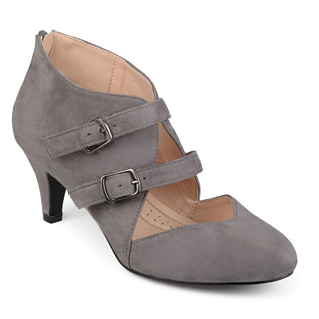 Journee Collection Womens Ohara Pumps Stiletto Heel, 9 Medium, Gray