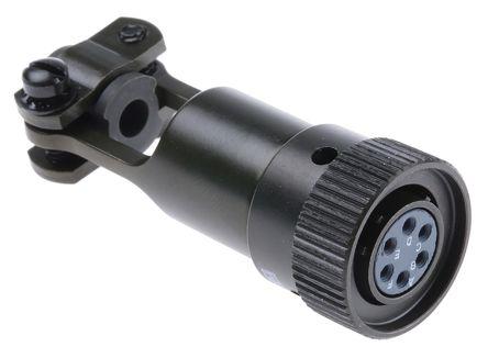 ITT Cannon Connector, 6 contacts Cable Mount Miniature Plug, Solder