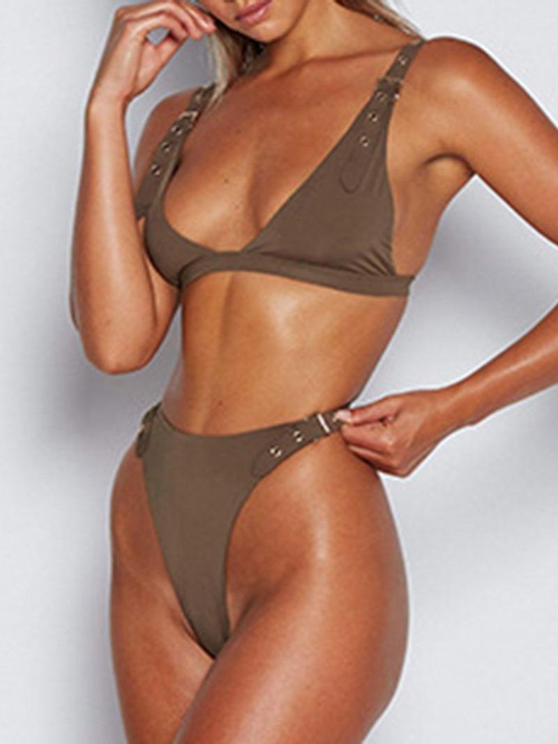 Ericdress Plain Beading Skimpy Swimsuit