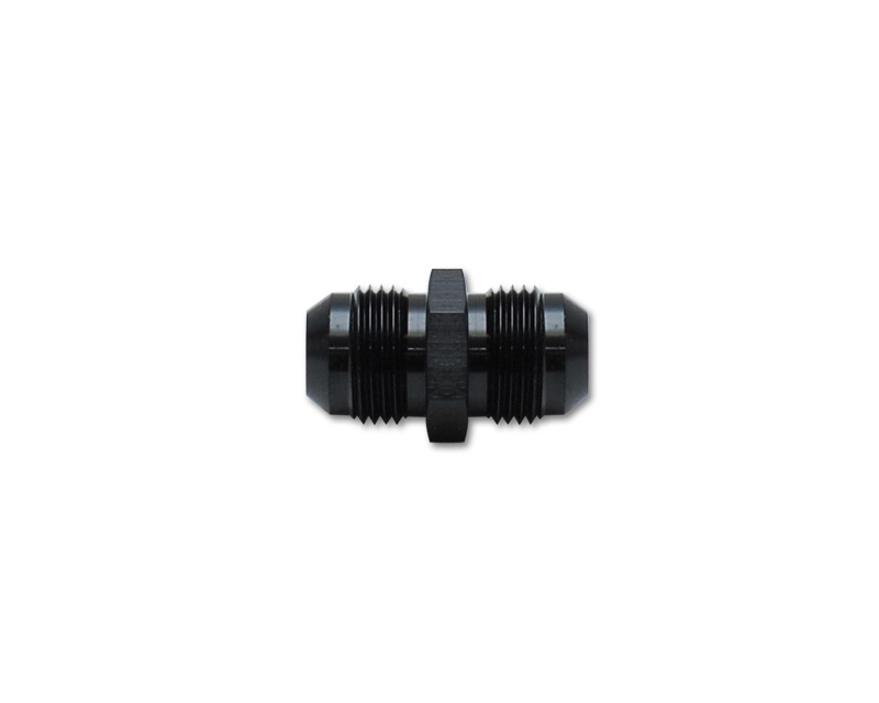 Vibrant Performance 10232 Anodized Black -6AN Male to -6AN Male Union Adapter Fitting