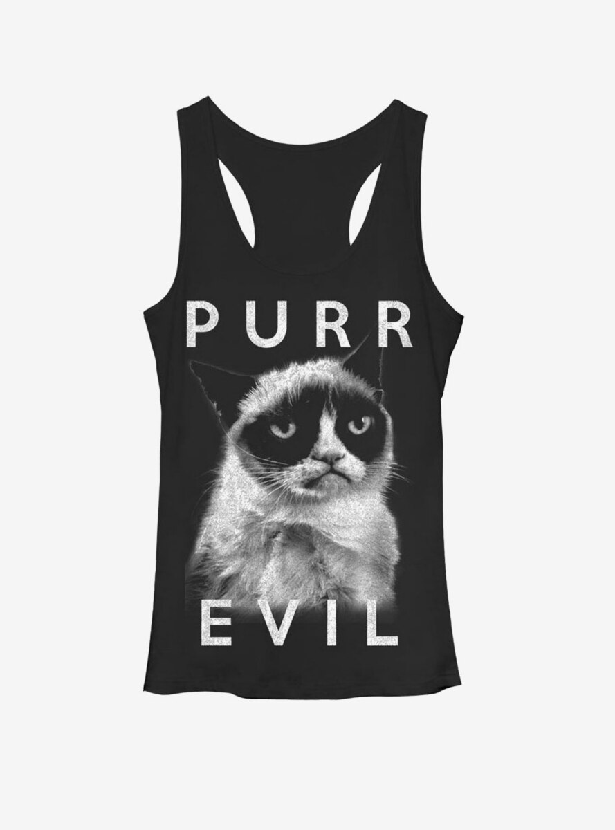 Grumpy Cat Purr Evil Womens Tank Top