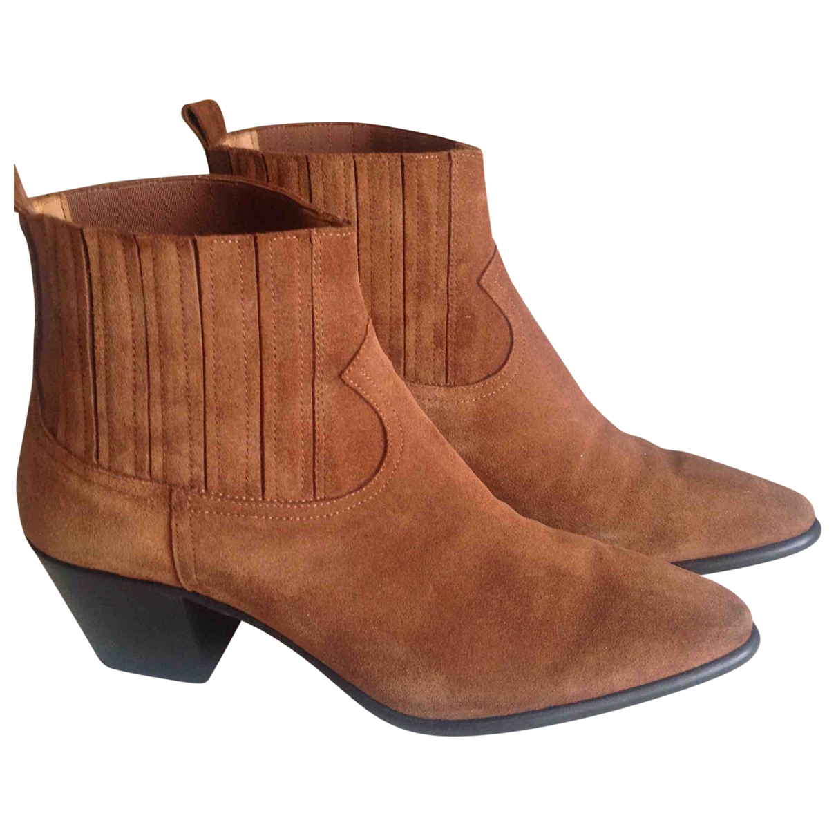 Non Signé / Unsigned \N Camel Suede Ankle boots for Women 39 EU