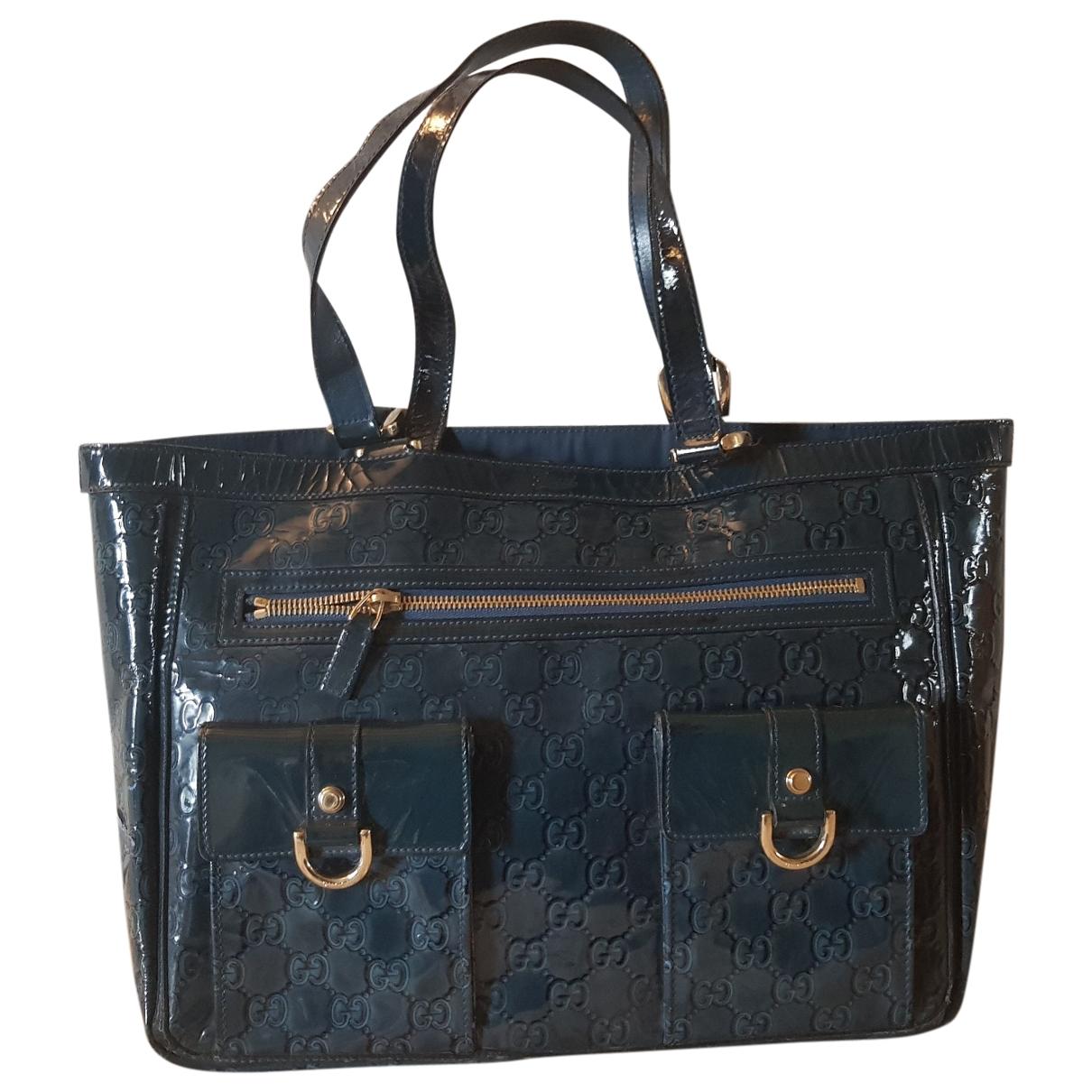 Gucci \N Blue Patent leather handbag for Women \N