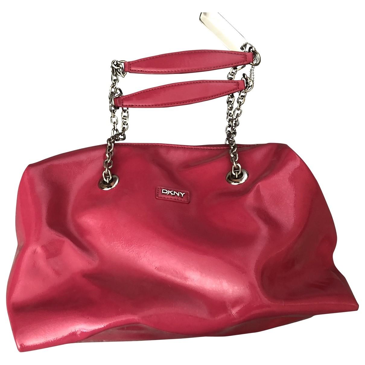 Dkny \N Pink Leather handbag for Women \N