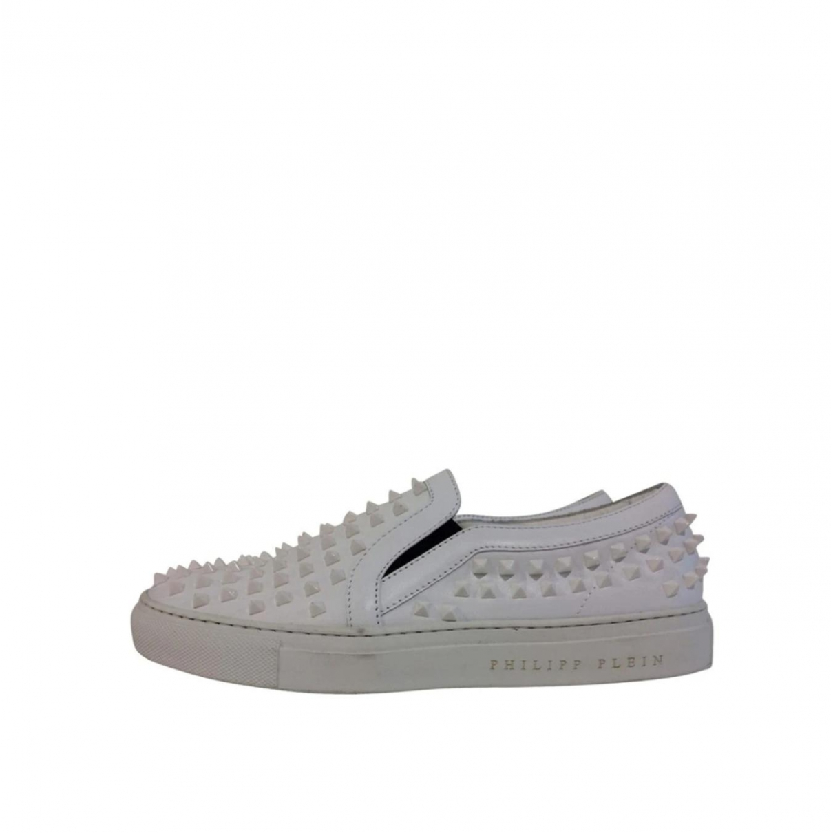 Philipp Plein \N White Leather Trainers for Women 38 EU