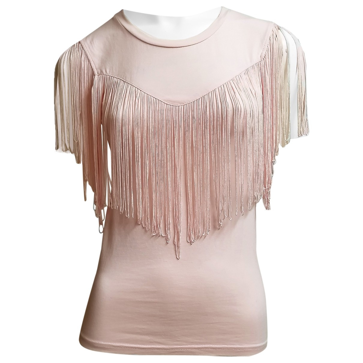 Non Signé / Unsigned \N Pink Cotton  top for Women S International