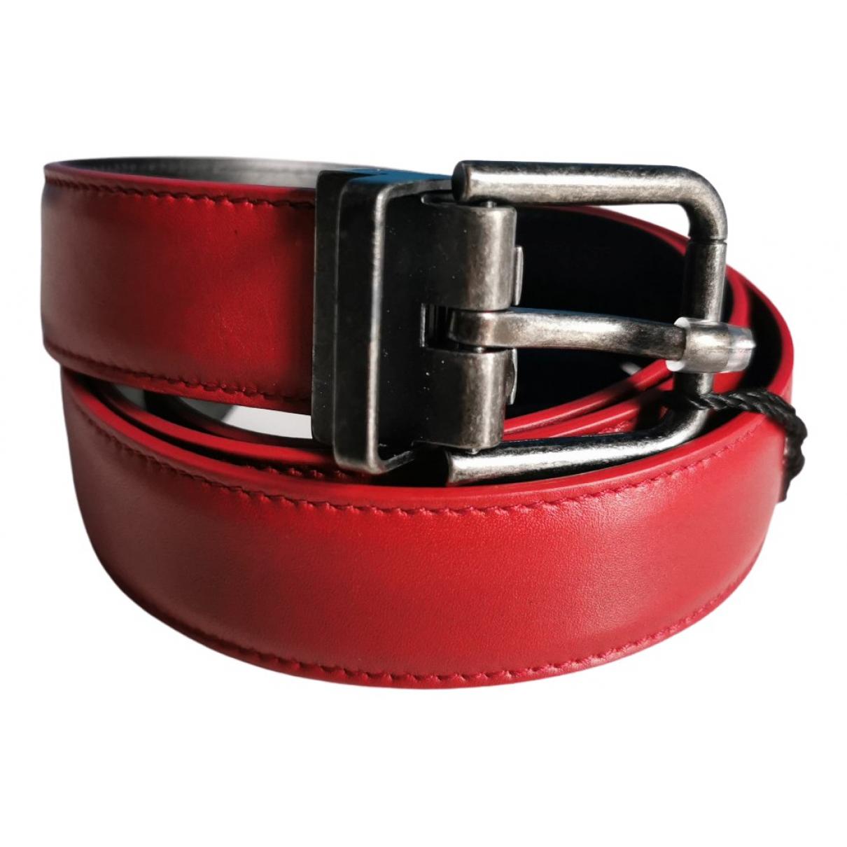 Dolce & Gabbana \N Red Leather belt for Women 90 cm