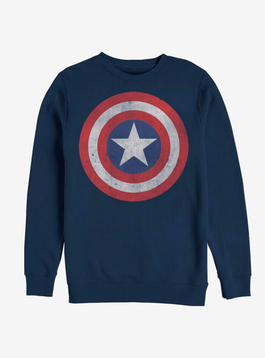 Marvel Captain America Classic Shield Logo Sweatshirt