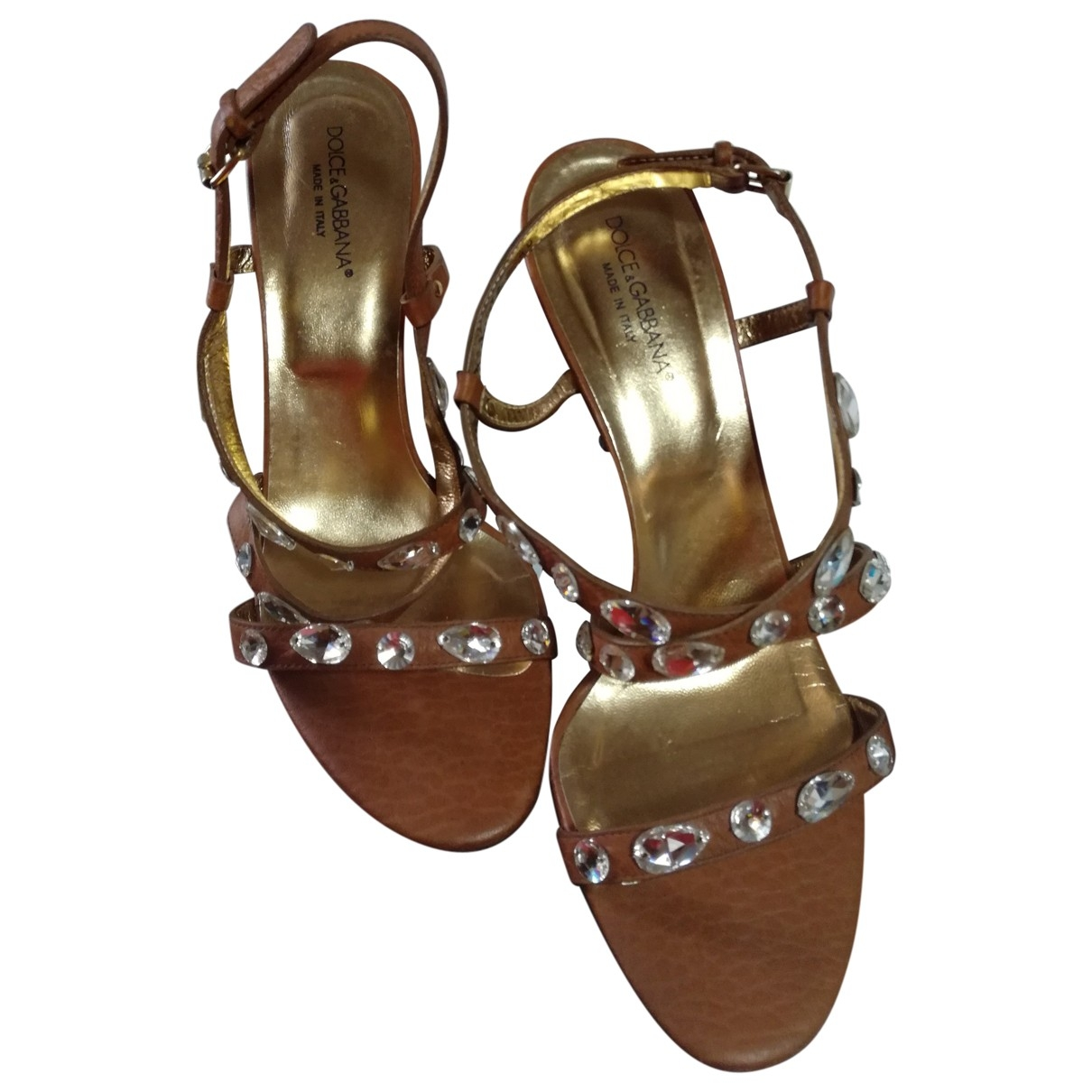 Dolce & Gabbana \N Camel Leather Sandals for Women 40 EU