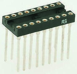Winslow 2.54mm Pitch Vertical 28 Way, Through Hole Turned Pin Open Frame IC Dip Socket, 5A (14)