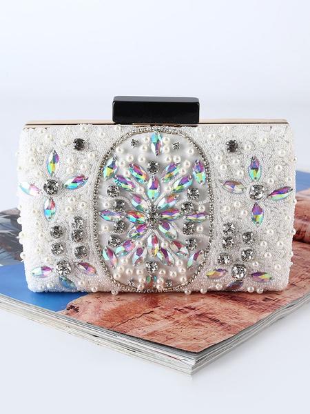 Milanoo Evening Clutch Bags Wedding Party Beaded Rhinestones Handbags