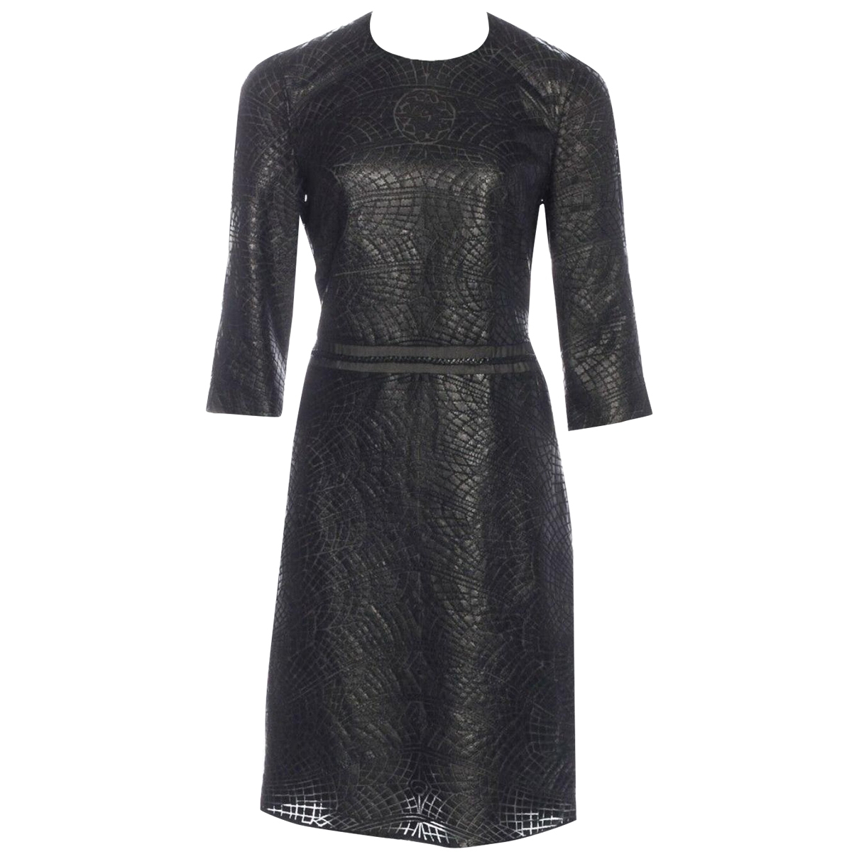 Ralph Rucci \N Black Leather dress for Women 4 US