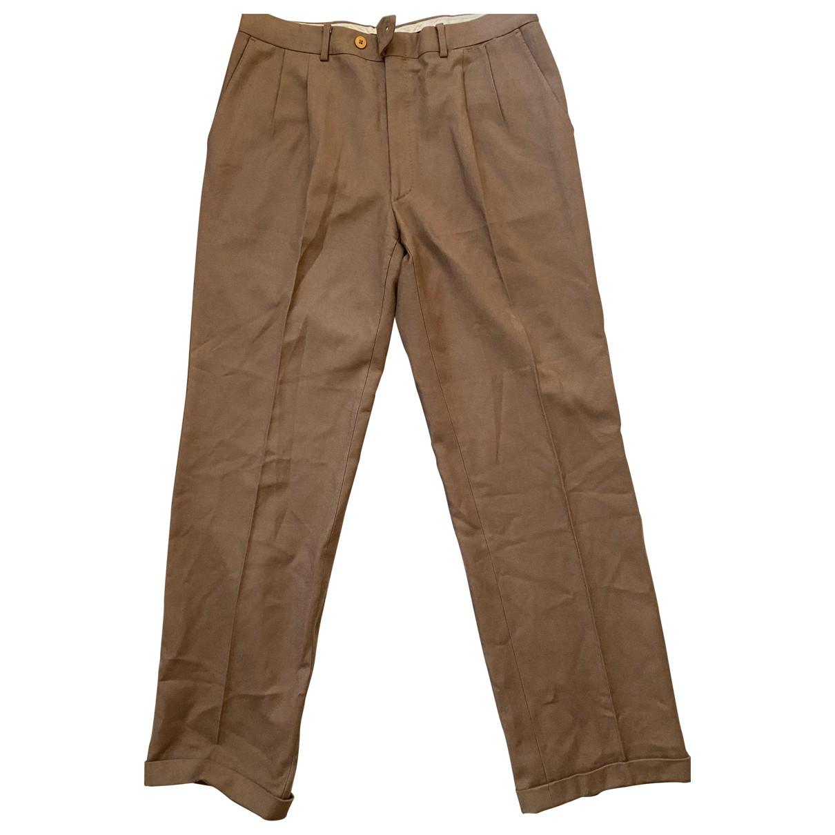 Saint Laurent \N Camel Wool Trousers for Men M International