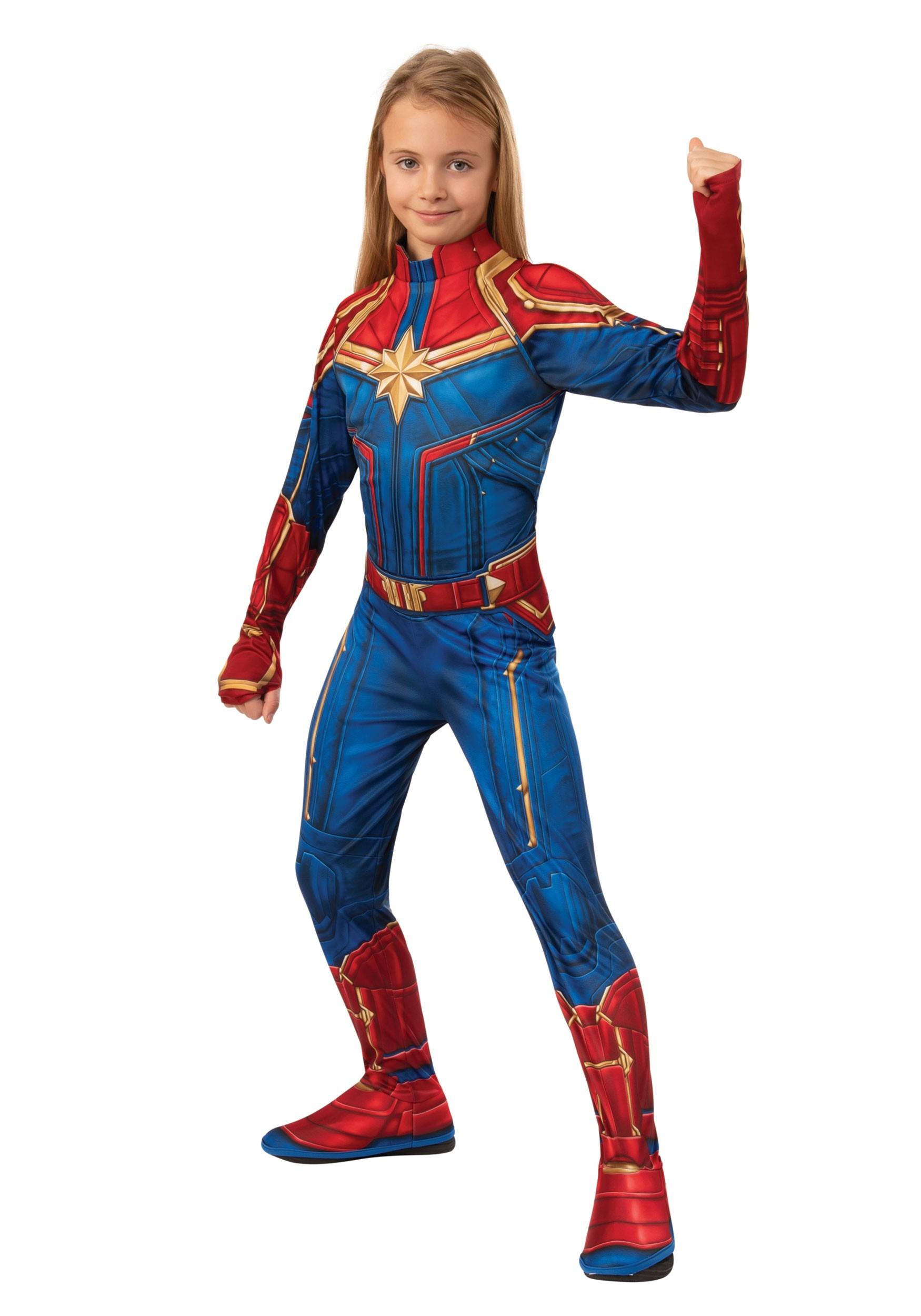 Captain Marvel Classic Costume for Girls