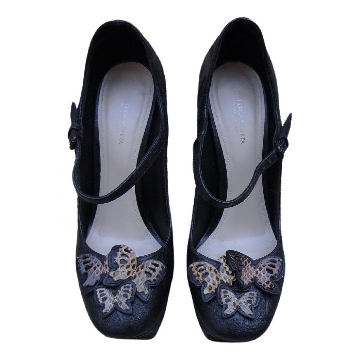 Bottega Veneta \N Black Leather Heels for Women 39 EU