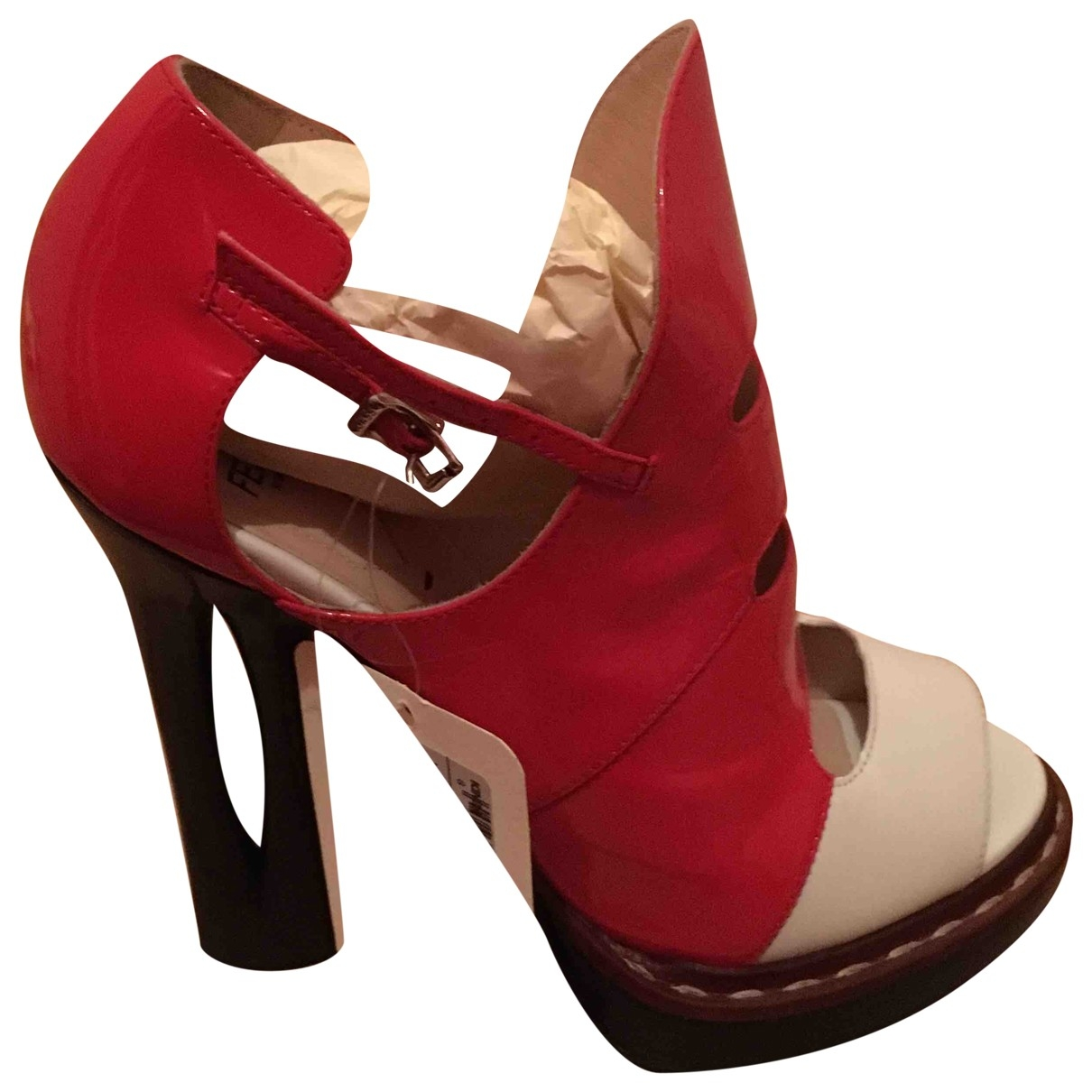 Fendi \N Red Patent leather Ankle boots for Women 38 EU