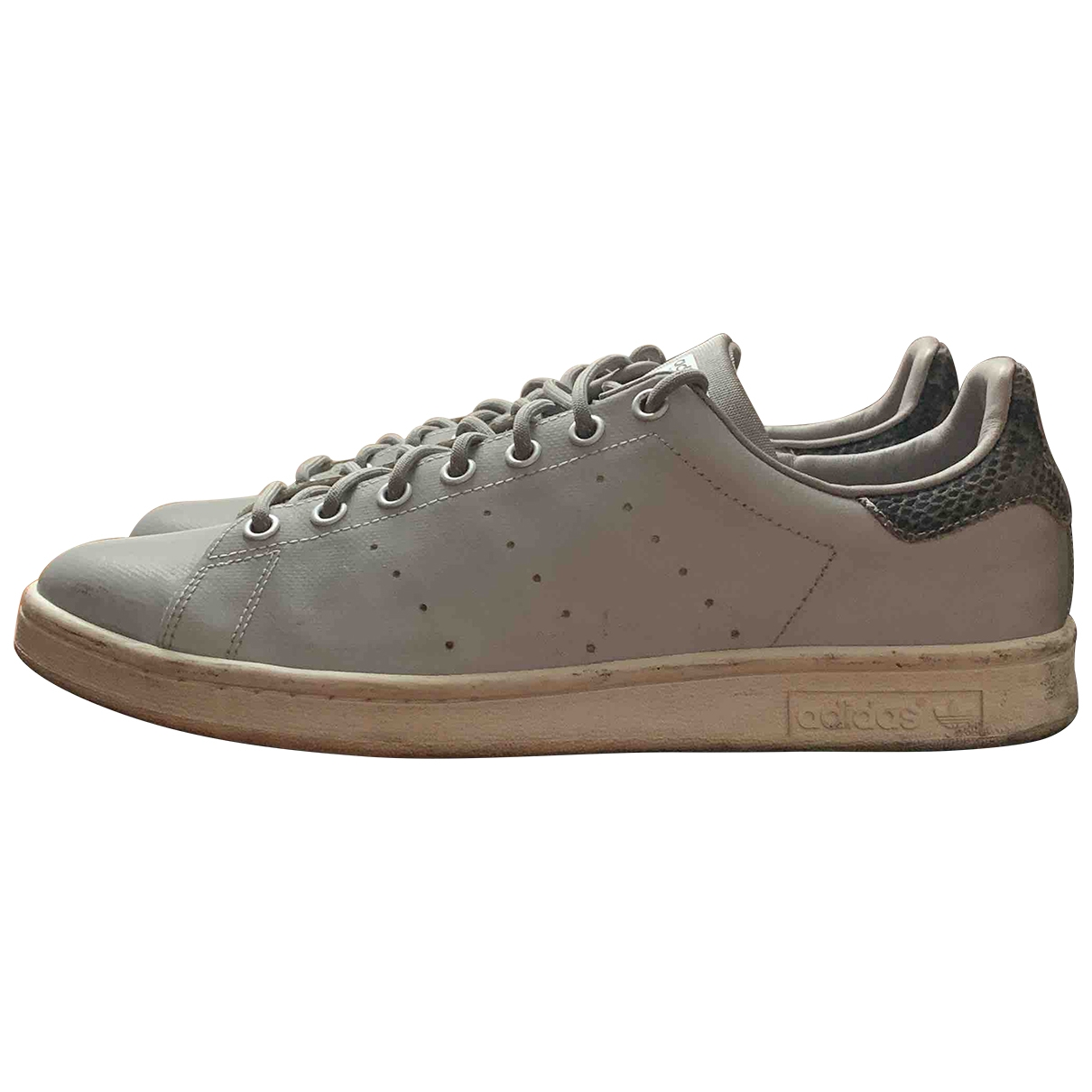 Adidas Stan Smith Grey Leather Trainers for Men 10.5 US