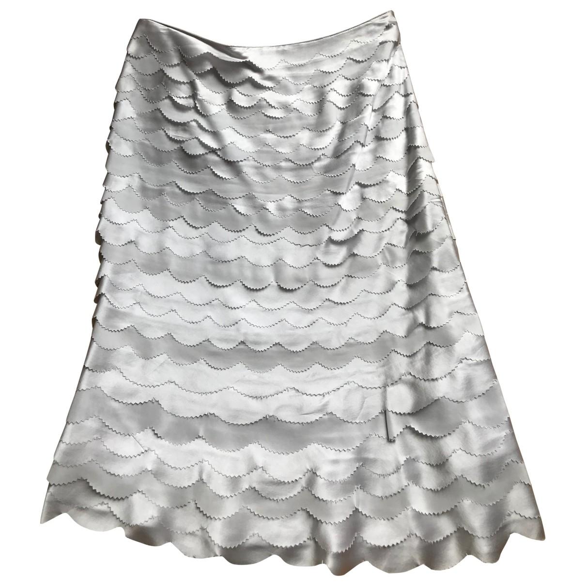 Reiss \N Grey Silk skirt for Women 8 UK