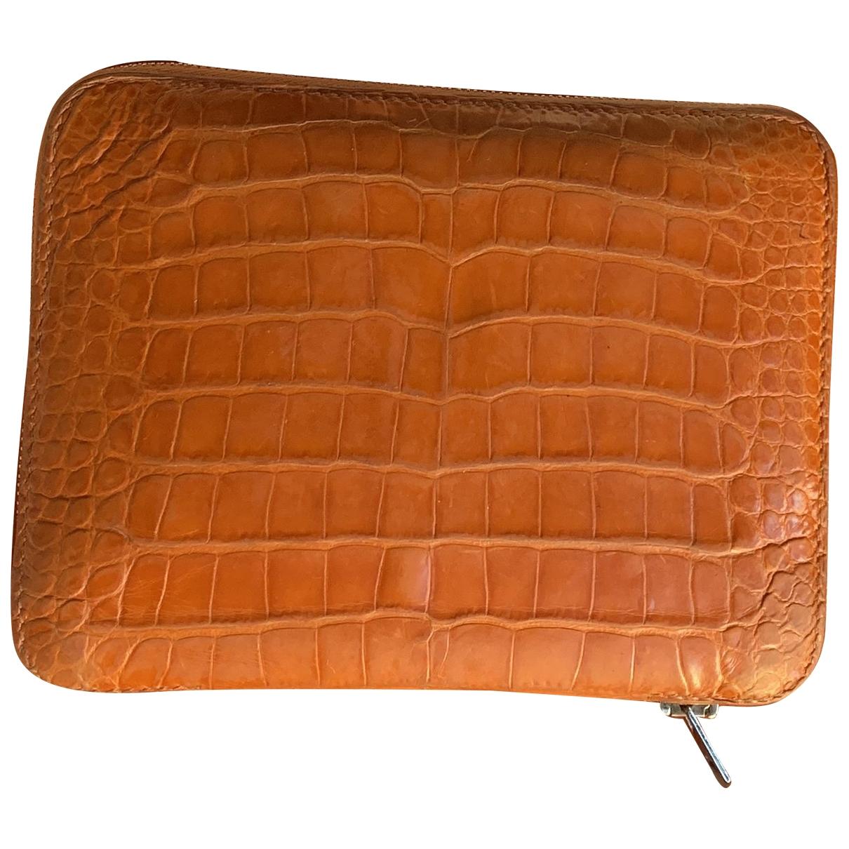 Hermès Azap Orange Alligator Purses, wallet & cases for Women \N