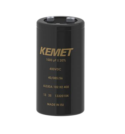 KEMET 3300μF Electrolytic Capacitor 100V dc, Screw Mount - ALS71A332DA100