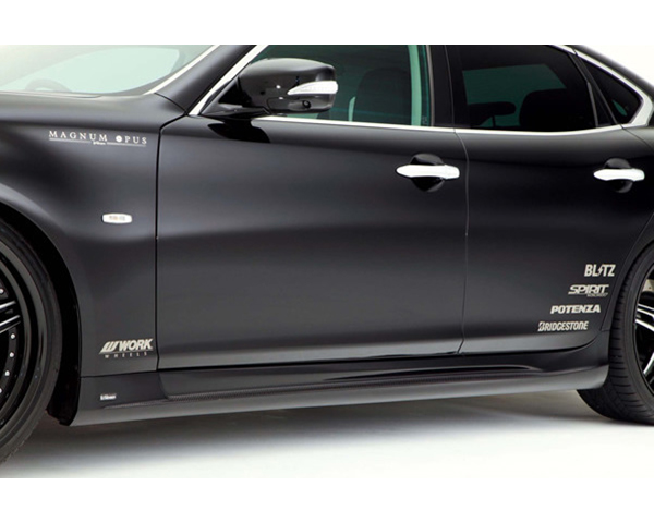 Varis VANI-055 Carbon Side Skirts | FRP with Carbon Inserts Infiniti M37 | M56 Y51 Fuga 11-13