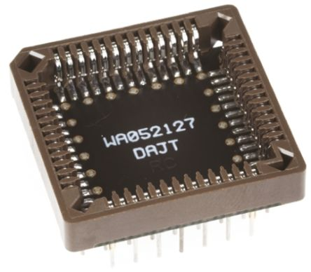 Winslow Straight Through Hole Mount 1.27 mm, 2.54 mm Pitch IC Socket Adapter, 44 Pin Female PLCC to 44 Pin Male PGA