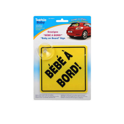 Baby On Board Sign with Suction Cup French Version - Tootsie