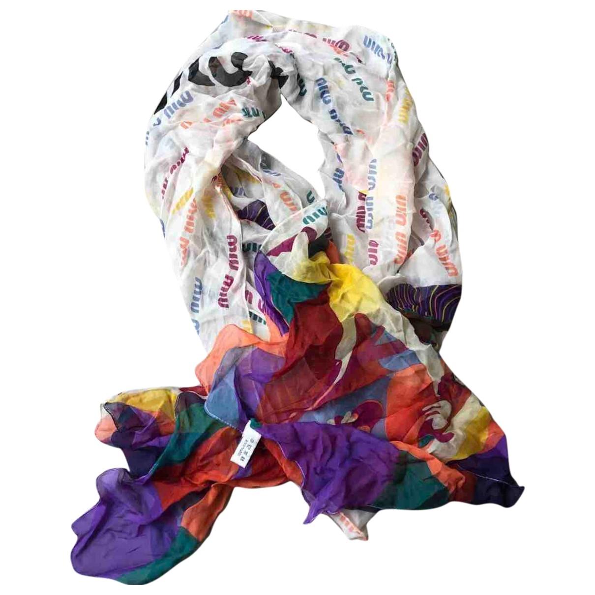 Miu Miu \N Multicolour Silk scarf for Women \N