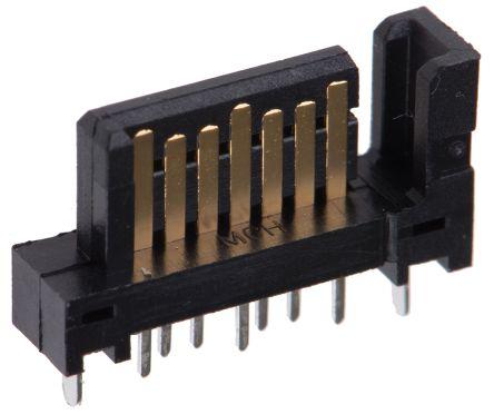 Molex , SATA, 67491 7 Way 1 Row Straight PCB Socket, Through Hole, Solder Termination