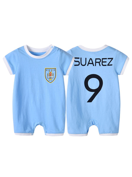 Milanoo Halloween Costume Kids Neymar 2020 FIFA World Cup Short Sleeve Jumpsuits