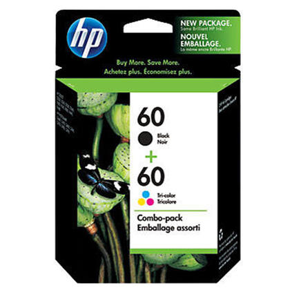 HP 60 CD947FC N9H63FN D8J23FN Original Black and Tri-color Ink Cartridge Combo