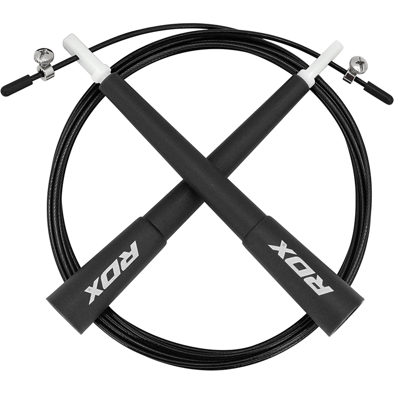 RDX C8 10 ft. Adjustable PVC Coated Steel Cable Speed Jump Skipping Rope