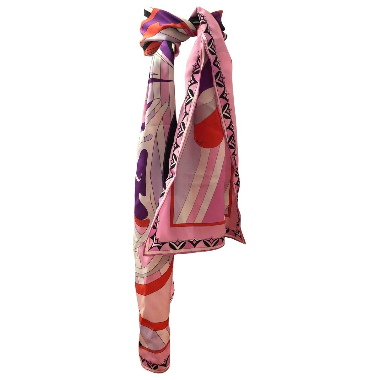 Emilio Pucci \N Pink Silk scarf for Women \N