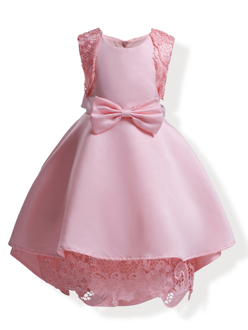 Ericdress Elegant Mesh Patchwork Sleeveless Bowknot Girl's Princess Dress