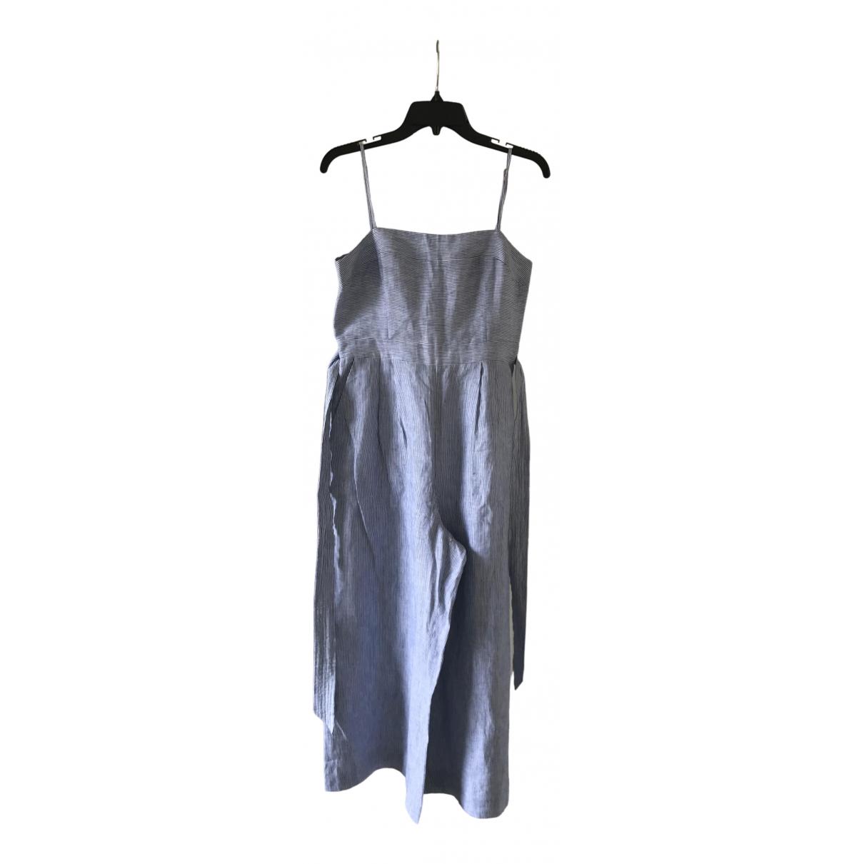 J.crew \N Blue Linen jumpsuit for Women 6 US