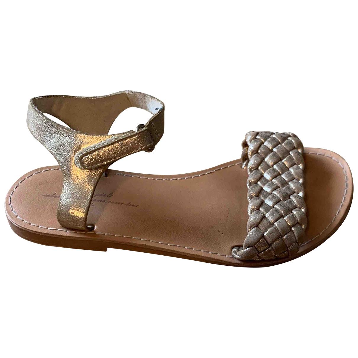 Zara \N Metallic Sandals for Kids 27 EU