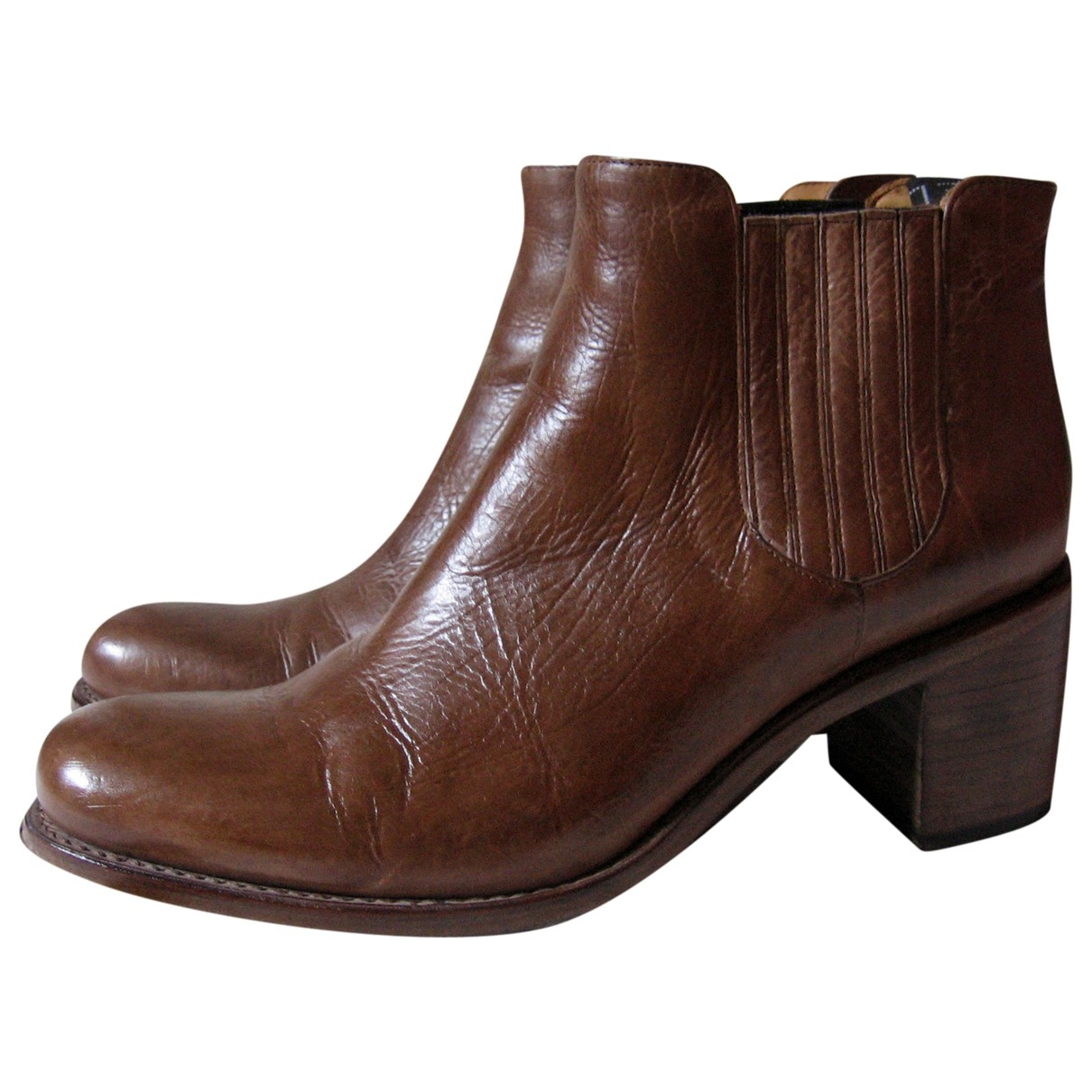 Free Lance \N Brown Leather Ankle boots for Women 39.5 EU