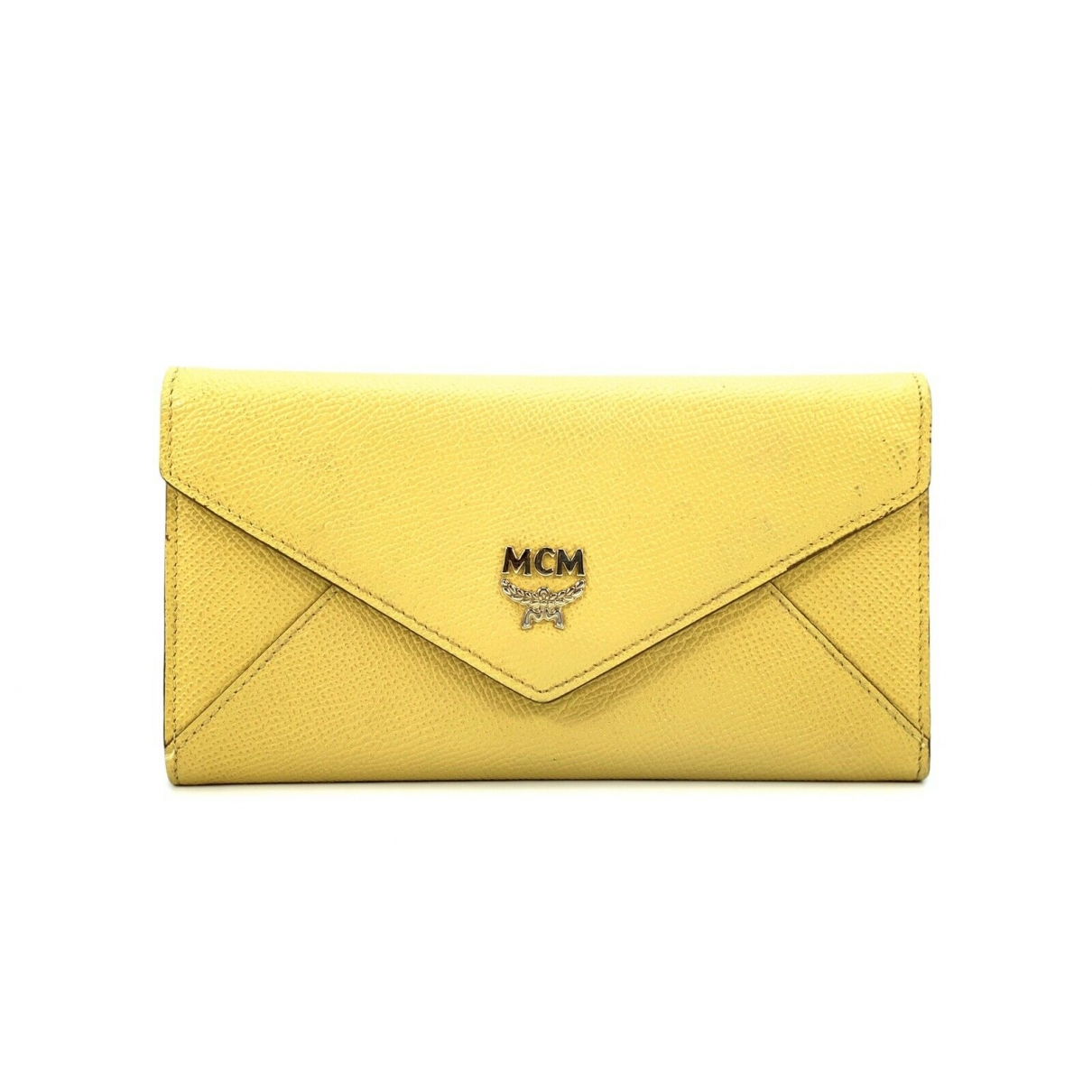 Mcm \N Yellow Leather wallet for Women \N