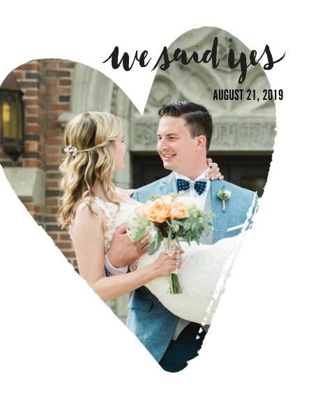 Wedding 8x10 Designer Print - Glossy, Prints -We Said Yes