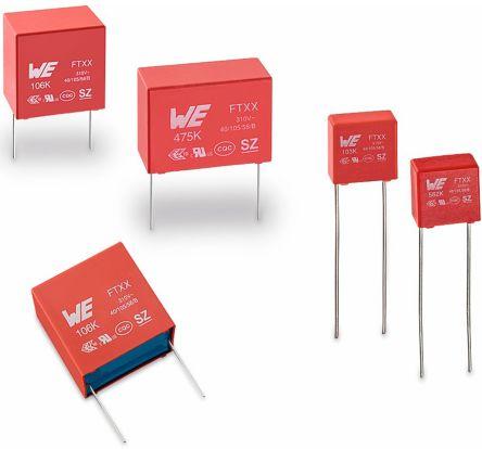 Wurth Elektronik 680nF Polypropylene Capacitor PP 310V ac ±10% Tolerance WCAP-FTXX Series (5)