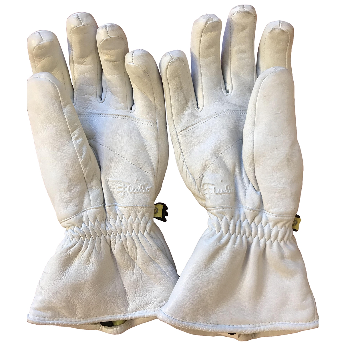 Emilio Pucci \N White Leather Gloves for Women S International