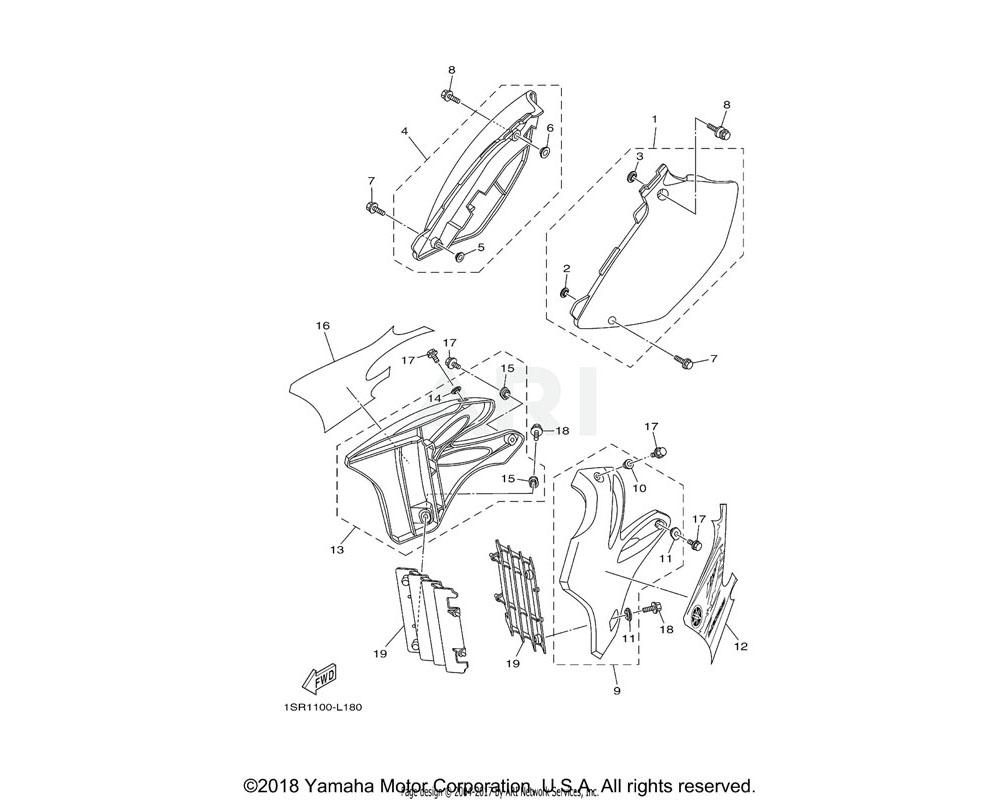 Yamaha OEM 1C3-21721-50-00 COVER, SIDE 2
