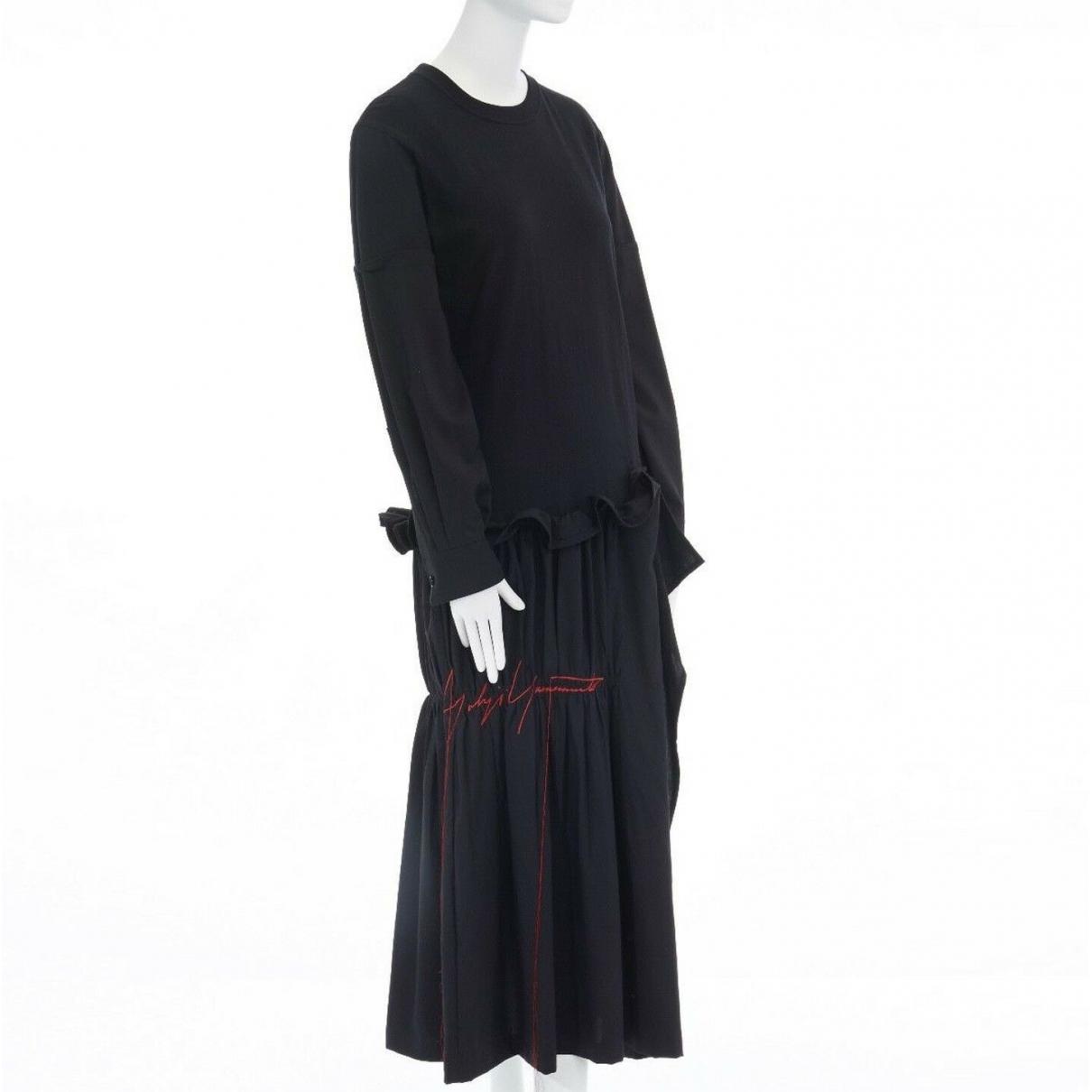 Yohji Yamamoto \N Black Cotton dress for Women 42 IT