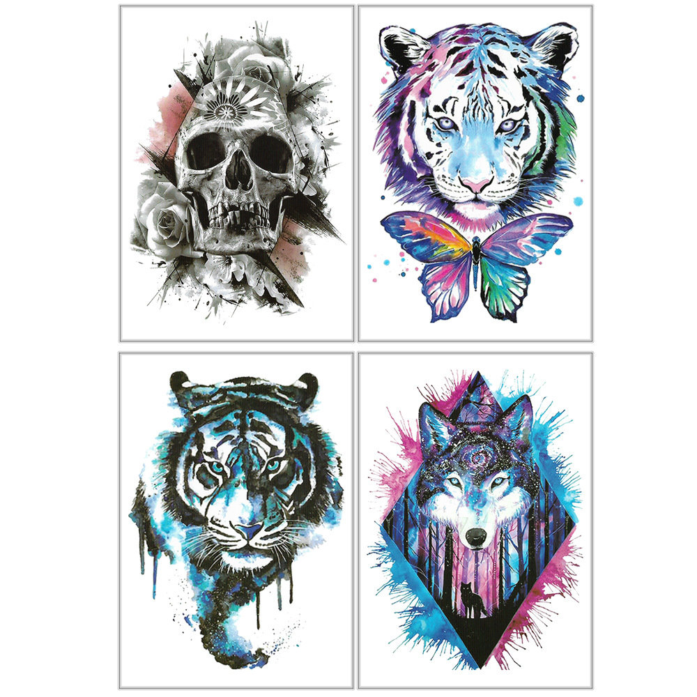 Colorful Temporary Tattoo Sticker Waterproof Fake Tattoo Stickers For Arm Body Art