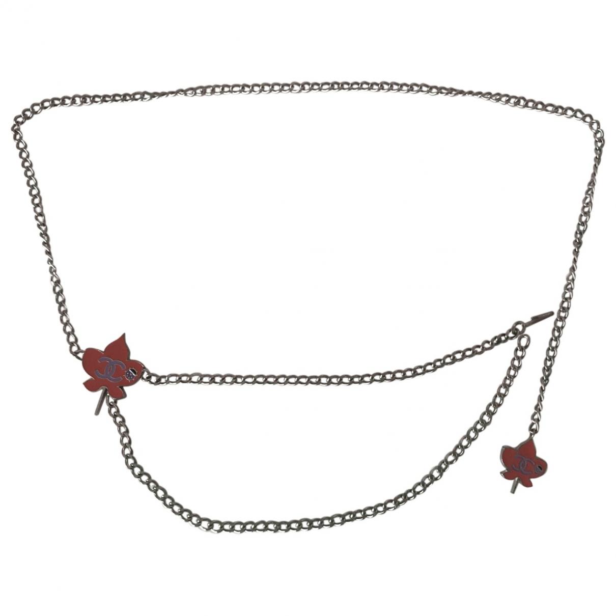Chanel \N Silver Metal belt for Women M International